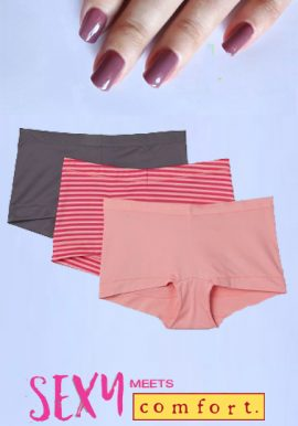 Superior Comfort Seamless Boyshorts Pack of 3