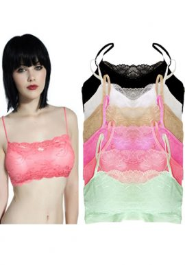 Wholesale 6 Floral Lace All Over Cami Bra