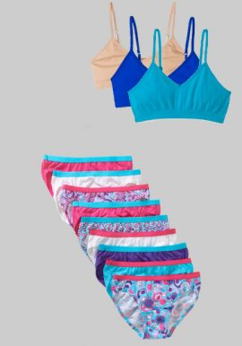 Wholesale Girls Pure Cotton Bras Panties