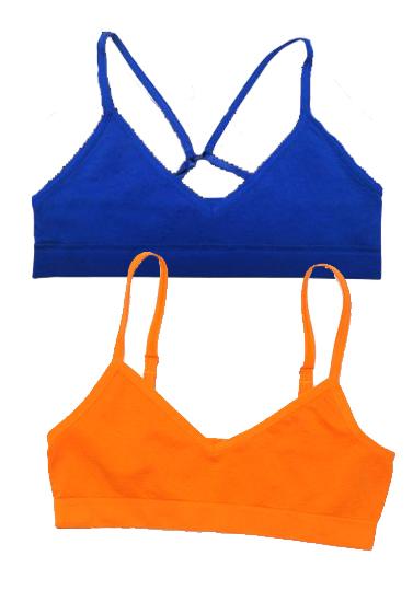 074c080785455 Bpc Girls Shirred Front Everyday Bra 2 Pack