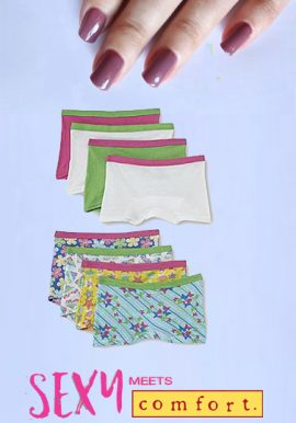 Wholesale Lot Of 8 Plain & Printed Mix Boyshorts