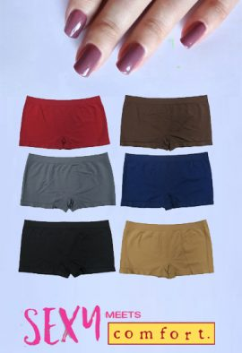 Snazzyway Cotton Seamless Boyshort Panties 6-Pk