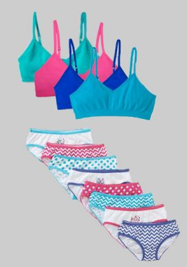 Wholesale Lot Mixed Color Girls Bra Panties