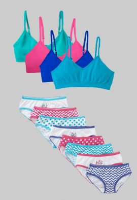 Wholesale Lot Mixed Color Girls Bra Panties