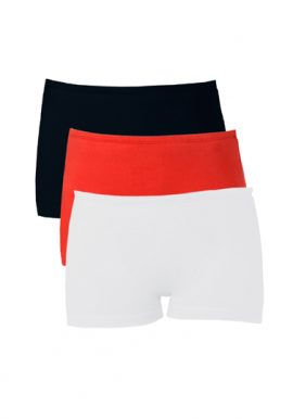 Snazzyway Cotton No Ride-Up Boyshort Panties Pack-3