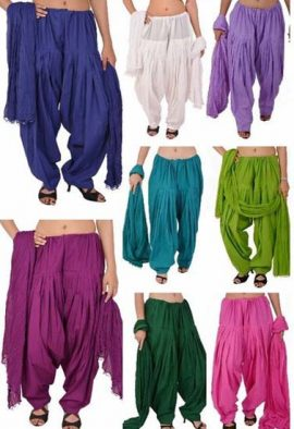 Buy Lot Of 8 Wholesale Plain Cotton Patiala Salwar