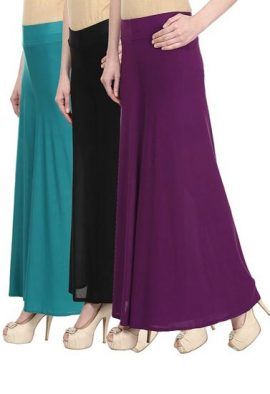 Combo Offer- Pk Of 3 Breathable Palazzo Trousers