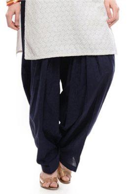 Cotton Readymade Navy Blue Patiala Salwar