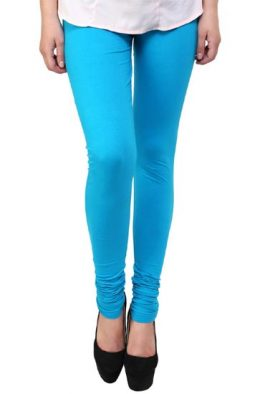 Deep Sky Blue Coloured Legging