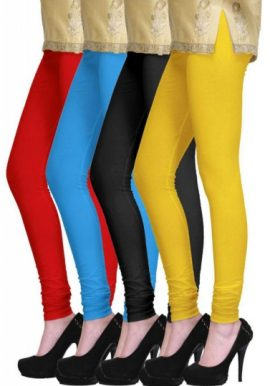 Lot Of 4 Colorful Highly Stretchable Leggings