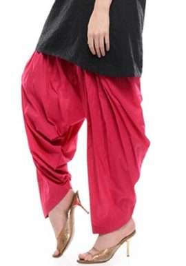 Magenta Full Airy Cotton Patiala Salwar