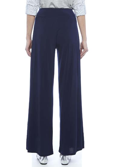 Snazzyway Fabulous Navy Blue Chiffon Palazzo Trouser