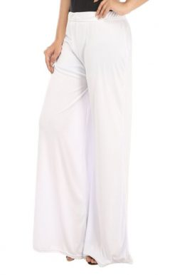 Snazzyway- Fully White Cool Casual Palazzo