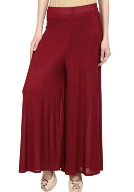 Snazzyway- Maroon Fully Seasonal Palazzo Trouser