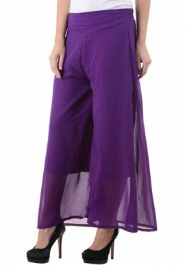 Snazzyway- Purple Fantastic Bell Bottom Style Palazzo