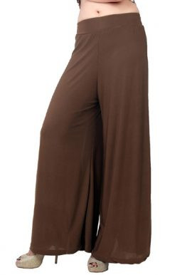 Snazzyway-Regular Flared Brown Palazzo Bottom