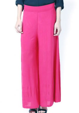 Snazzyway- Spring To Pink Flare Palazzo Trouser