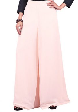 Snazzyway- Trendy Elasticated Waist Peach Palazzo