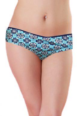Castellana Mare Sky Blue Printed Bikini Bottom