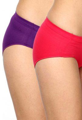 Westren Beauty Mid Rise Plus-Size Panties 2-Pack
