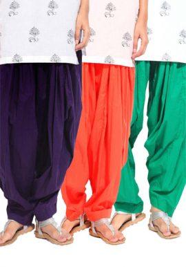 Women's Multi Colors Patiala Bottoms Pk-3