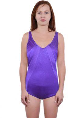 Triumph Sparkling Purple Deep Back Swimsuit