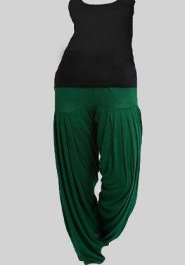 Women's Black Tank Top With Green Patiala Salwar