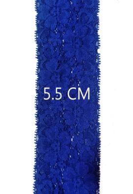 5 Meter Premium blue Stretch lace trim 5.5 Cm Wide1