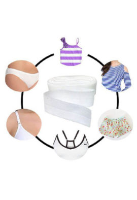 Dyeable fold over elastic for bra panties
