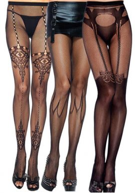 Fishnet Pantyhose Sexy Design Tight 3-Pack