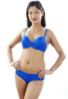 Forever Attractive Royal Blue Seamless Bra Set