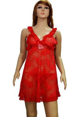 Red Sexy Seduction Wide Strap Camisole Nightwear