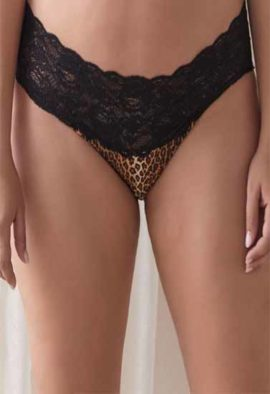 No Secret's Evolution Animal Print Lacy Boyshort Panty