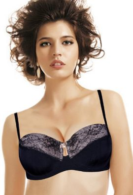 Wunderlove Black More Sexy & Elegant Wired Lace Bra