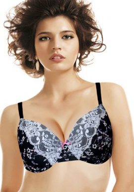 Wunderlove Floral Black Lace Embroidered Underwired Bra