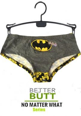 Batman Glow In Dark Grey Yellow Hipster Panty