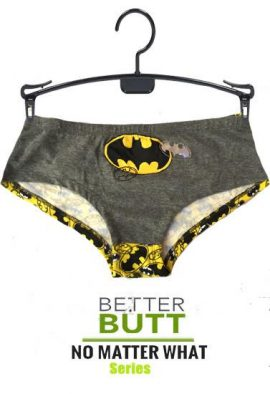 Batman Glow In Dark Grey Yellow Hipster Panty