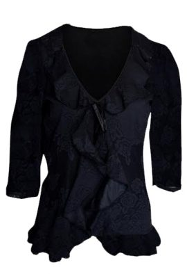 Black Smart Mesh Net Cardigan Shrug