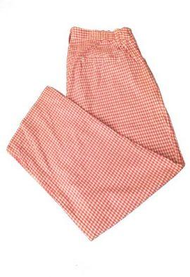 Damart Casual Check Print Plus Size Capri Pant