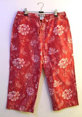 Faded Glory Plus Size Floral Print Capri With 4 Pockets