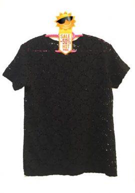 Solid Black All Love Classy Crochet Top