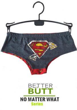 Superman Supergirl Printed Boyshort Hipster Panty
