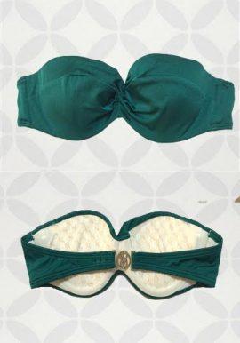 Victoria's Secret Sea Green Smooth Pushup Plunge Strapless Bra