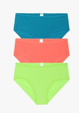 Ladies Mid Rise Pack Of 3 Soft Cotton Panties