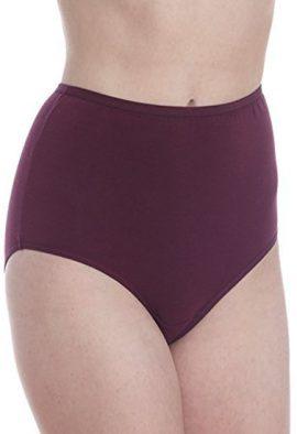 Ladies Purple Blue High Waist Cotton Panties Pack