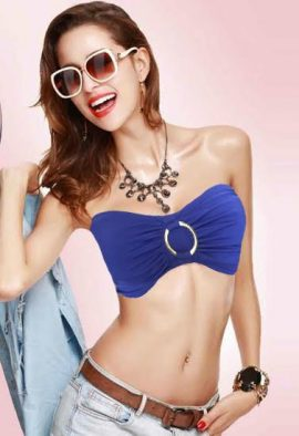 Ladies Sexy & Cool Royal Blue Strapless Bra
