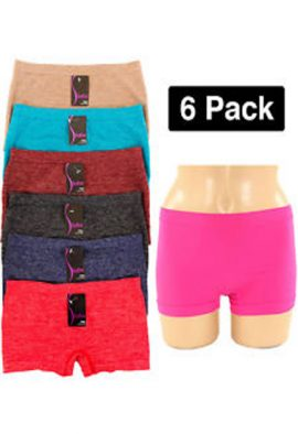 Pack Of 6 Seamless Multicolor Boyshort Panties