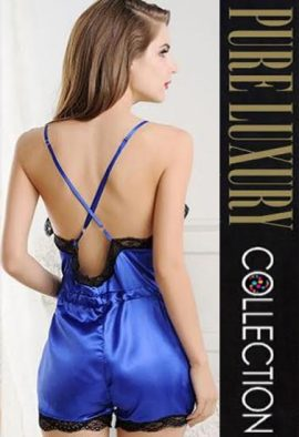 1 Set Sexy Backless Sling Lingerie Lace Slip Sleepwear