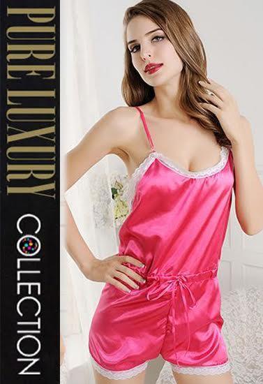 New Gorgeous Pink 1 Piece Sexy Backless Nightwear