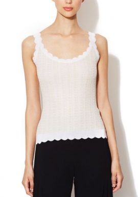 Samar Perfect Creamish Trim Camisole Top